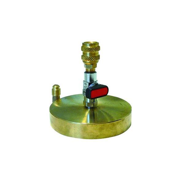Tecnogas supporto in ottone 1/4 per bombole da 1kg di gas refrigerante codice 11453