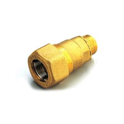Raccordo diritto bigiunto maschio per tubi di acciao 1